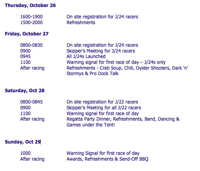 Preliminary Schedule